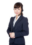 Asian customer service operator Stock Image