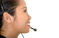 Asian customer service woman Stock Photography