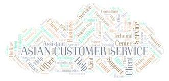 Asian Customer Service word cloud. vector illustration