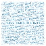 Asian Customer Service word cloud. Wordcloud made with text only stock image