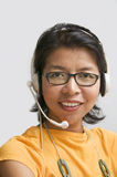 Asian customer support Royalty Free Stock Images
