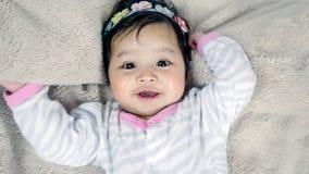 Asian cute baby girl Royalty Free Stock Photos