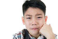 Asian cute boy sad and crying Stock Photo