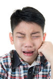 Asian cute boy sad and crying Royalty Free Stock Photography