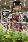 Asian cute little girl. Closeup portrait of asian cute little girl Royalty Free Stock Photos