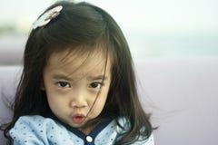 Asian cute little girl. Closeup portrait of asian cute little girl Royalty Free Stock Photo