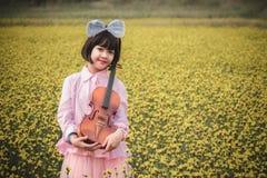 Asian cute little girl Stock Images