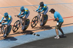 Asian Cycling Championships 2012, Kazakhstan Team Stock Photos