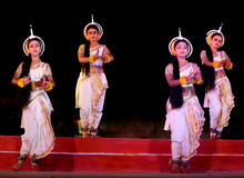 Asian dance troupe performing in Konark Dance festival, India Stock Photo