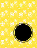 Asian dandelion pattern banner Royalty Free Stock Photography