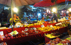 Asian day and night food market in Thailand Royalty Free Stock Photo