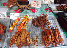 Asian day and night food market in Thailand Stock Photography