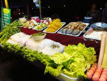 Asian day and night food market in Thailand Royalty Free Stock Photography