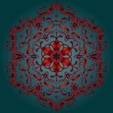 Asian Decorative pattern. Asian silk pattern. Decorative ornament on dark teal background, silk textile. Vector Illustration for Art, Print, Fashion, Home decor vector illustration