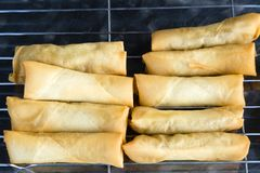 Asian Deep Fried Spring Rolls Popiah royalty free stock images