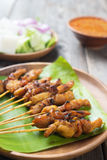 Asian delicious chicken sate Royalty Free Stock Images