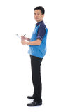 Asian delivery male stock photography