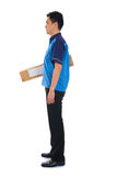 Asian delivery male stock photos