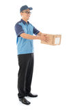 Asian delivery man Royalty Free Stock Photos