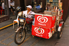 Asian delivery Tricycle Royalty Free Stock Images
