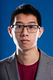 Asian descent man with glasses portrait Stock Photography