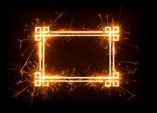 Asian design border frame with copy space Royalty Free Stock Images