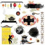 Asian design elements. Oriental elements for your design. To see more eastern elements, please visit my gallery Royalty Free Stock Image