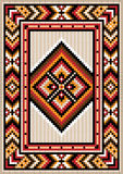 Asian design in the frame for carpet. Asian design  for the rug and the ornamental details for the frame Royalty Free Stock Photography