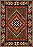 Asian  design in the frame for carpet. Asian design  for the rug and the ornamental details for the frame Royalty Free Stock Photos