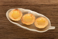 Asian dessert egg tarts Royalty Free Stock Photography