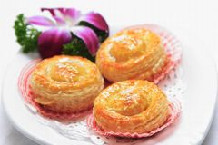 Asian desserts. A white background Royalty Free Stock Images