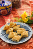 Asian desserts. A silk background Royalty Free Stock Images