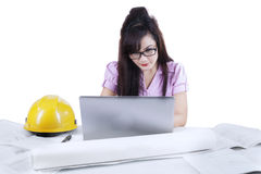 Asian developer working isolated Stock Photography