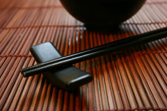 Asian Dining Set - Chopsticks and Bowl Royalty Free Stock Photography