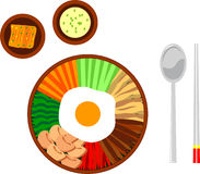 Asian dish illustration Royalty Free Stock Images