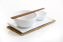 Asian dish plate Royalty Free Stock Images