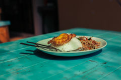 Asian dish on table in restaurant Stock Photos