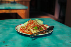 Asian dish on table in restaurant Stock Images
