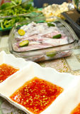 Asian dishes - steamboat dipping sauce Royalty Free Stock Images