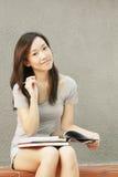 Asian do estudante da divisa estrageira Fotos de Stock Royalty Free