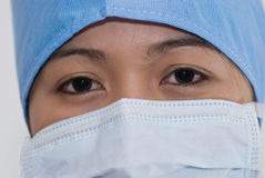 Asian Doctor. Asian female doctor wearing mask Royalty Free Stock Image