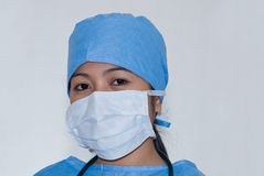 Asian Doctor. Asian female doctor wearing mask Royalty Free Stock Photos