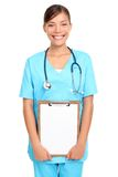 Asian doctor holding sign royalty free stock photos