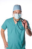 Asian doctor isolated against white Stock Photo