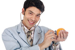 Asian doctor orange Stock Images