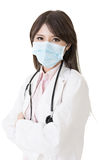 Asian doctor with protective mask Stock Photography