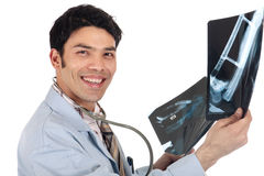 Asian doctor x-ray Stock Photo