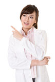 Asian doctor woman thinking Stock Images
