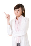 Asian doctor woman thinking Royalty Free Stock Photo
