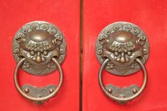 Asian Door Handles Stock Image